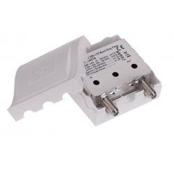 Triax TBSI 259 Filtre LTE/4G intérieur 1 entreé BI+BII+BIII+UHF Atténuation à C59. Triax 314070