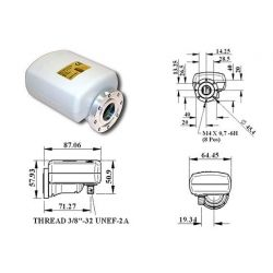 Invacom 0.3 dB Single 1 salida LNB universal Foco Centrado