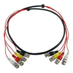 BNC4-45 - Câble préparé multiple, BNC mâle à BNC mâle, 4…