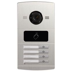 Safire SF-VI108E-IP - Videoportero IP para 4 apartamentos, Cámara 1,3Mpx,…