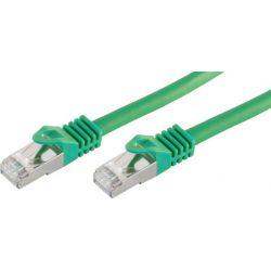 Réseau RJ45 1m câble Cat 7 SFTP PIMF LSZH 600MHz Vert