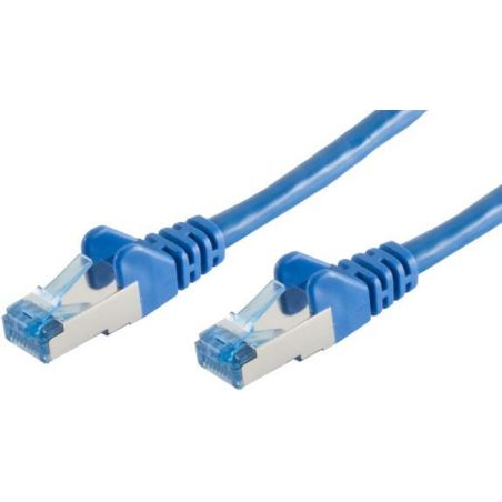 Câble patch Cat6A FTP 0.5m Bleu