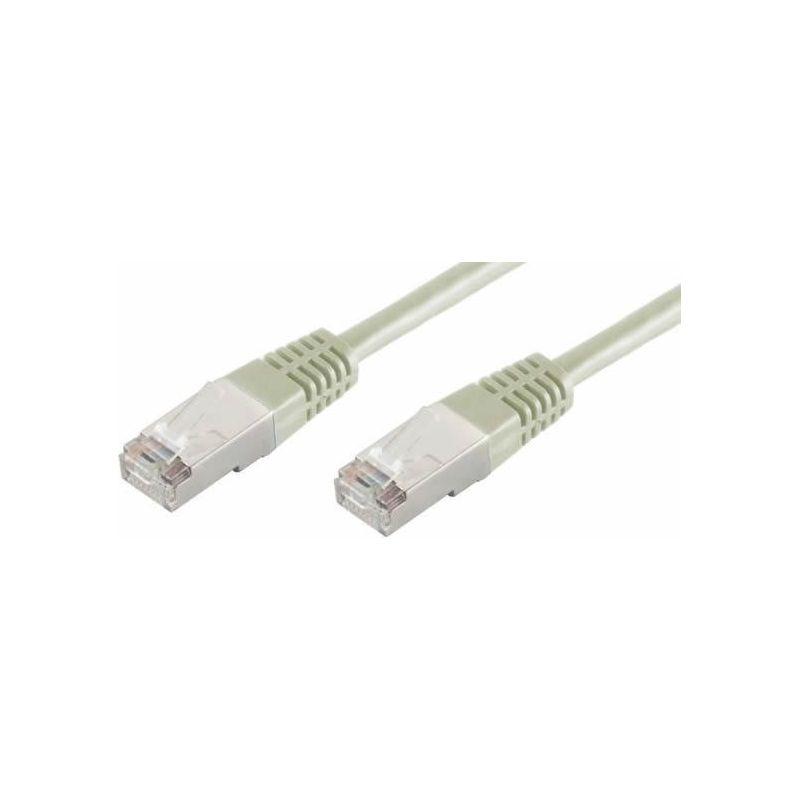 Câble de réseau RJ45 0.5m Cat 6 S/FTP PIMF et LSZH 250MHz Gris