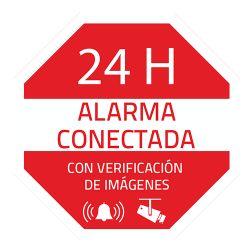 AC-PEGATINA-ES - Pegatina de plástico, Serigrafía Alarma conectada,…