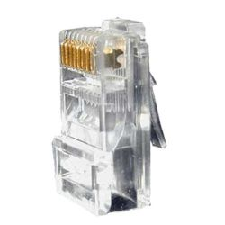 CON300-CAT6 - Conector, RJ45 CAT6 para crimpar, Compatible con cable…