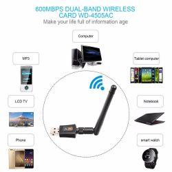 Adaptador wifi USB 600Mbps Banda dual 2.4GHz / 5.8GHz
