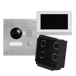 X-Security VTK-F2000-IP - Kit de Portier vidéo, Technologie IP, Inclut Plaque,…