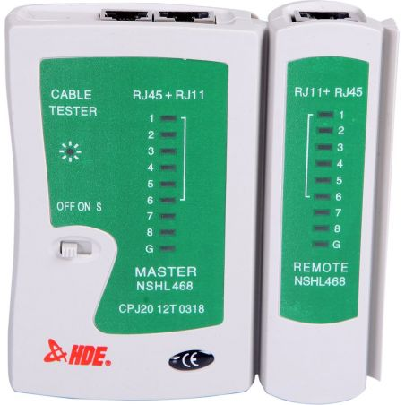 LAN do verificador do cabo RJ45 RJ11 CAT5 CAT6