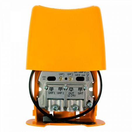 Amplifier Mast NanoKom 3e/1s EasyF UHF/UHF[dc]/FImix[dc] 12...24V Televes