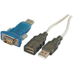 Adaptador USB 2.0 a RS-232 con cable de extensión 0.6m
