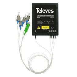 Multiplexor/Demultiplexor óptico CWDM 1e/4s 1550nm Televes