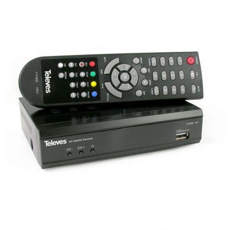 Receptor Satélite HDTV para señales FTA Compatible con SCR I y SCR II Televes
