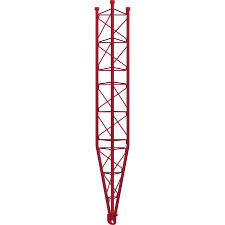 Partie inférieure inclinable, tour renforcée 450 XL, galvanisé à chaud 3m, rouge Televes