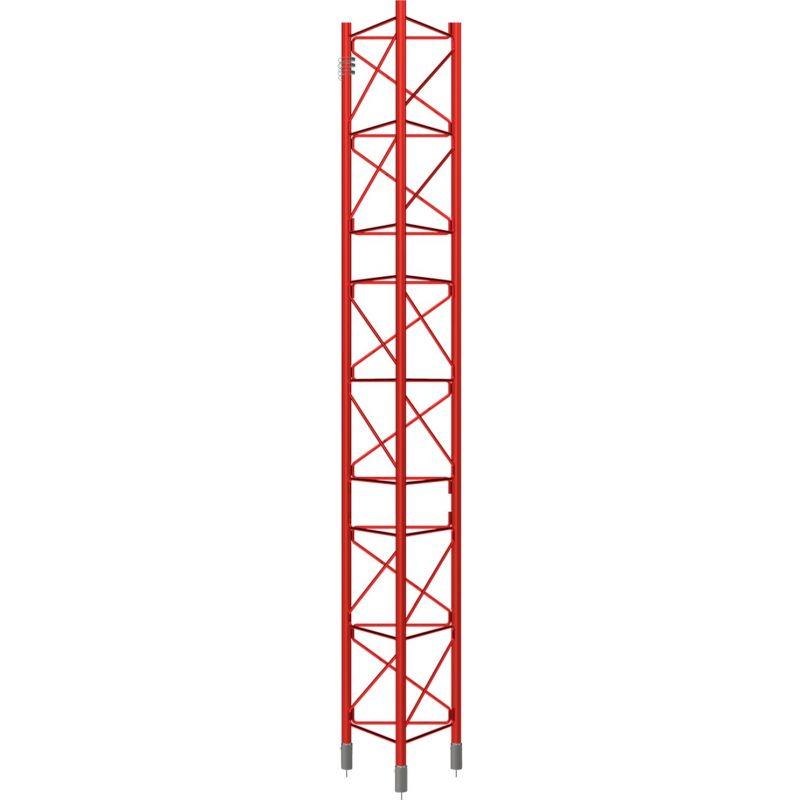 Section intermédiaire galvanisée à chaud, tour de 3m, 450XL, rouge