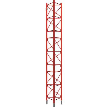 Section intermédiaire renforcée galvanisée à chaud, tour de 3m, 450XL, Rouge Televes