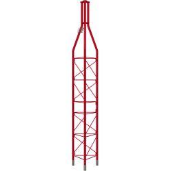 Tramo Superior galvanizado en caliente 3m Torre 450XL Rojo (Ømax mástil 62mm) Televes