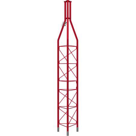 Partie supérieure galvanisée à chaud, tour 3m 450XL, rouge (mât Ømax 62mm) Televes