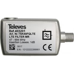 Filter LTE700/5G Medium Rejection Connector F 47...694MHz VHF/UHF (C21-48) Televes