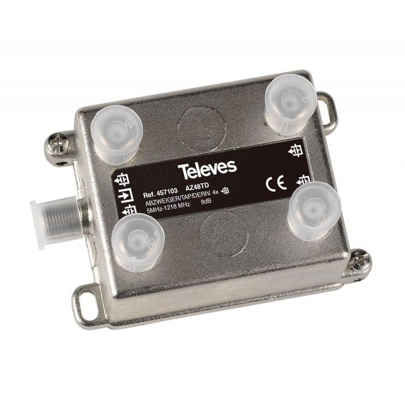 Shunt 5...1218 MHz F 4D 8dB Intérieur Televes
