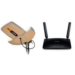 Kit d'antenne de terre 4GNova 4G/LTE(mâle SMA) Televes + Routeur TP-Link Archer MR200 Version 4 4G