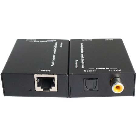Coaxial toslink Audio Extender by cat5e/6 300m