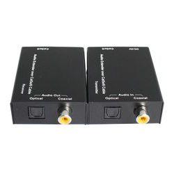 Extendeur audio toslink coaxial de cat5e/6 300m