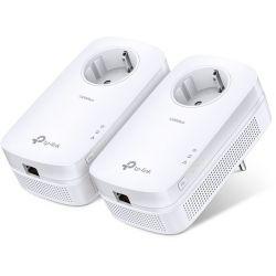 TP-Link TL-PA8010P Kit de 2 CPL AV1300 1 port Gigabit avec prise gigogne