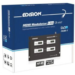 Modulador Edision HDMI Lite DVB-T Quad 4 canais