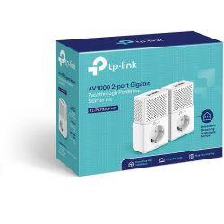 TP-Link TL-PA7020P Pack de 2 CPL AV1000, 2 ports Ethernet Gigabit avec prise gigogne