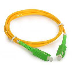 Cabo de fibra ótica de 0.5m, SC/APC para SC/APC simplex monomodo 9/125