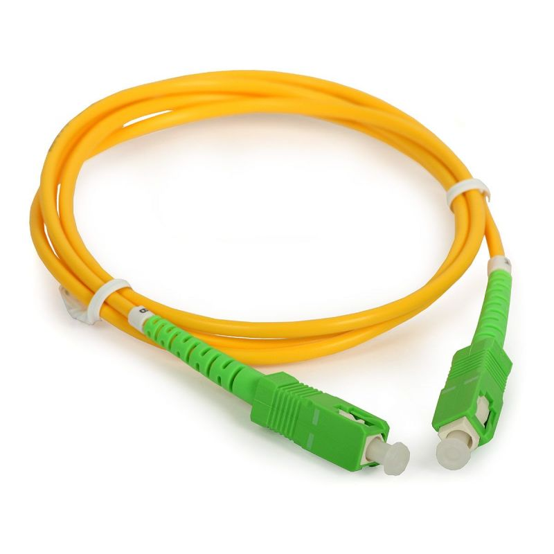 15M 9//125 - SC//APC to SC//APC Singlemode Simplex Fiber Optic Cable