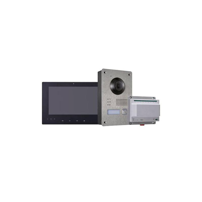 Hikvision HW-DS-KIS701-B - Kit de Videoportero, Tecnología 2 hilos, Incluye…