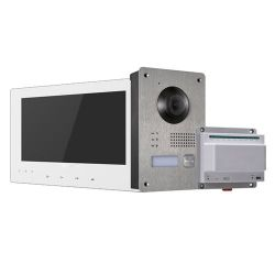 Hikvision HW-DS-KIS701-W - Kit de Portier vidéo, Technologie 2 fils, Comprend…
