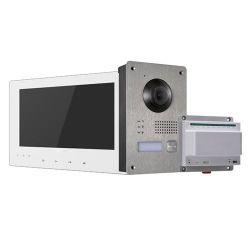 Hikvision HW-DS-KIS701-W - Kit de Videoporteiro, Tecnologia 2 fios, Inclui Placa,…