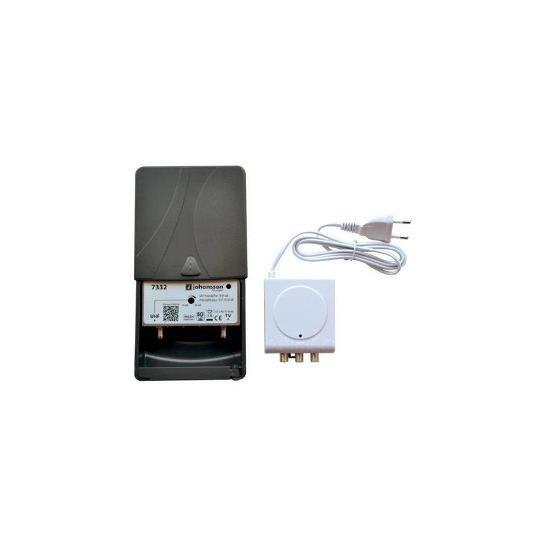 Johansson 7332 Kit UHF Preamplifier (LTE/5G) (Full Red Compliant) + Power Supply