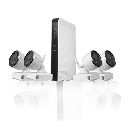 Nivian NV-KIT61-4C2M-BAT - Nivian Video Surveillance Kit, 6-channel NVR, 4…