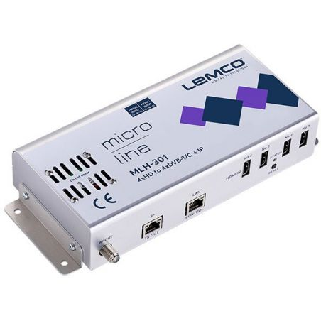 Lemco MLH-301 4 x HDMI a 4 x DVB-T/C + IP streaming