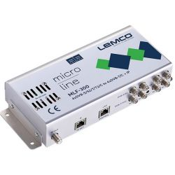 Lemco MLF-300 4 x DVB-S/S2/T/T2/C para 4 x DVB-T/C + IP streaming