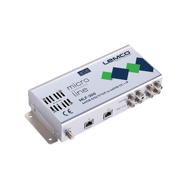 Lemco MLF-300 4 x DVB-S/S2/T/T2/C à 4 x DVB-T/C + IP streaming