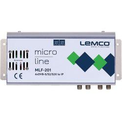 Lemco MLF-301 4 x DVB-S/S2/S2X à 4 x DVB-T/C + IP streaming