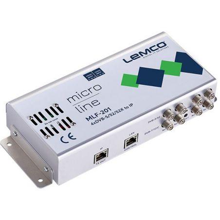 Lemco MLF-301 4 x DVB-S/S2/S2X a 4 x DVB-T/C + IP streaming