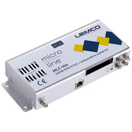 Lemco MLC-100 2 x DVB-S/S2/T/T2/C + 2 x FlexCAM para 4 x DVB-T/C