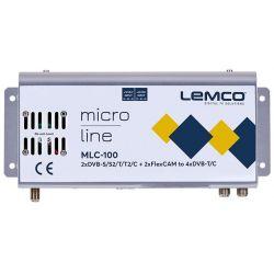 Lemco MLC-100 2 x DVB-S/S2/T/T2/C + 2 x FlexCAM à 4 x DVB-T/C