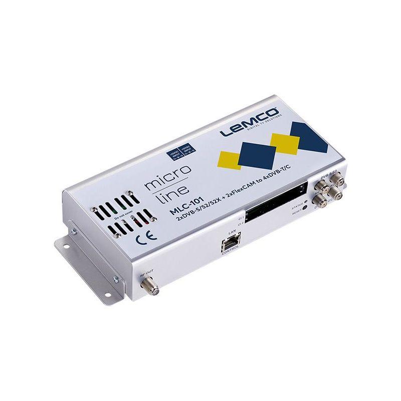 Lemco MLC-101 2 x DVB-S/S2/S2X + 2 x FlexCAM á 4 x DVB-T/C