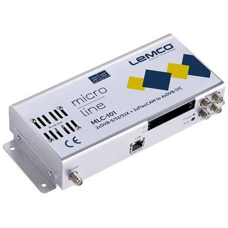 Lemco MLC-101 2 x DVB-S/S2/S2X + 2 x FlexCAM para 4 x DVB-T/C