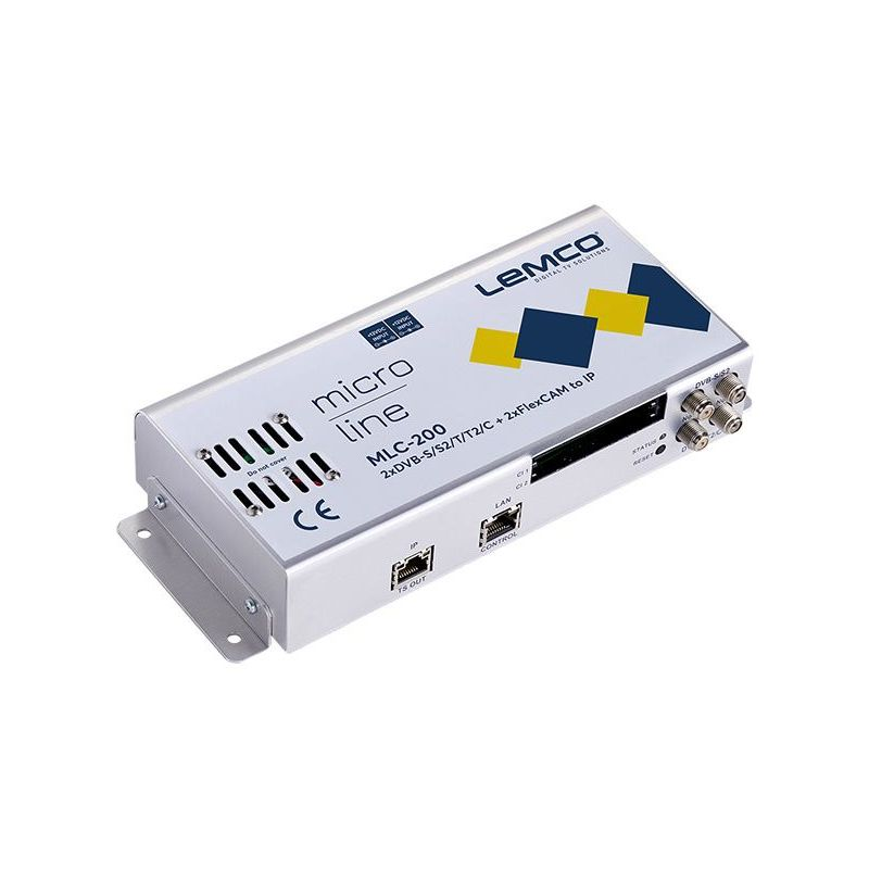 Lemco MLC-200 2 x DVB-S/S2/T/T2/C + 2 x FlexCAM a IP streaming