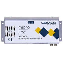 Lemco MLC-201 2 x DVB-S/S2/S2X + 2 x FlexCAM à IP streaming