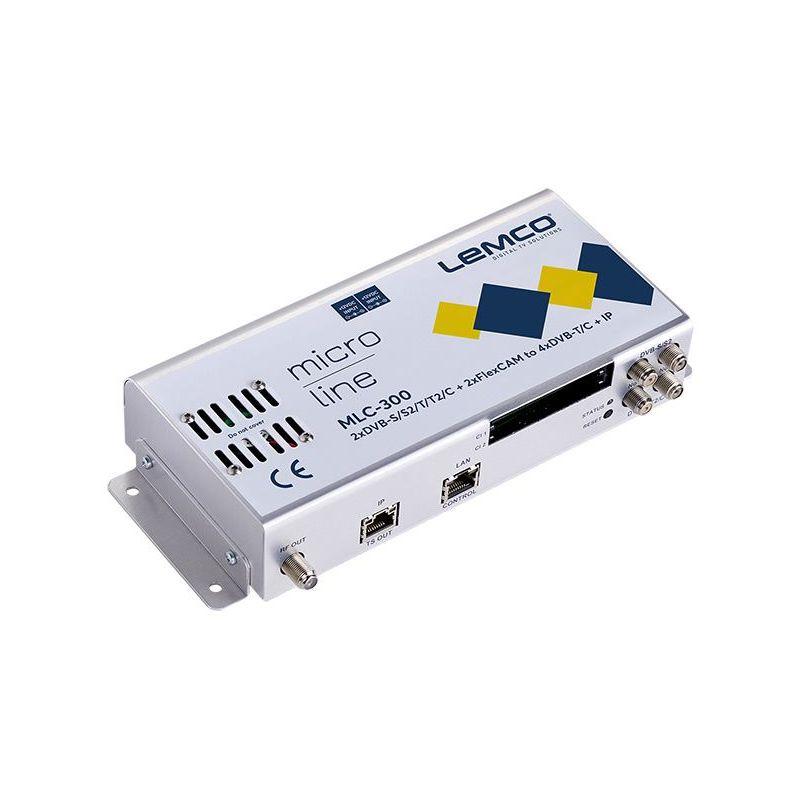 Lemco MLC-300 2 x DVB-S/S2/T/T2/C + 2 x FlexCAM a 4 x DVB-T/C + IP streaming