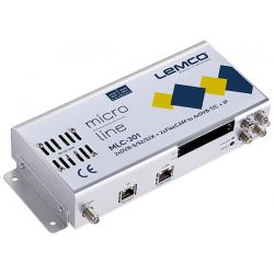 Lemco MLC-301 2 x DVB-S/S2/S2X + 2 x FlexCAM para 4 x DVB-T/C + IP streaming
