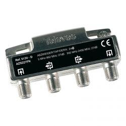 Dérivateur intérieur 2 directions 27 dB connectique F Televes